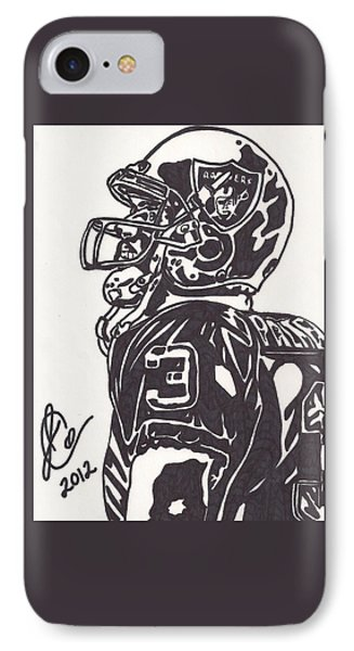 IPhone Case featuring the drawing Carson Palmer 1 by Jeremiah Colley