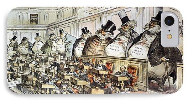 Cartoon: Anti-trust, 1889 Phone Case by Granger
