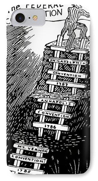 Cartoon: Constitution IPhone Case by Granger