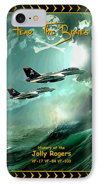 Cartoon Cover Jolly Rogers IPhone Case by Peter Van Stigt