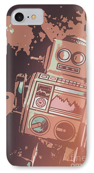 Cartoon Cyborg Robot IPhone Case by Jorgo Photography - Wall Art Gallery
