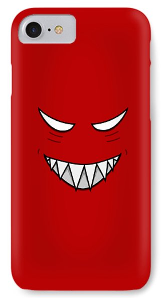 Cartoon Grinning Face With Evil Eyes IPhone Case