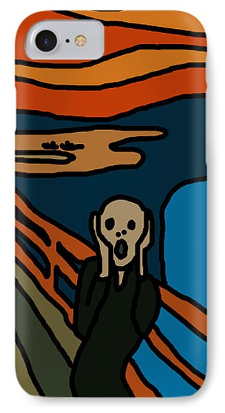 Cartoon Scream IPhone Case by Jera Sky