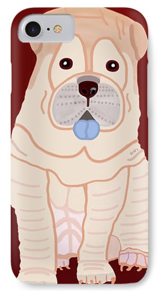 Cartoon Shar Pei IPhone Case
