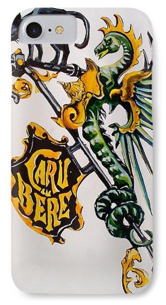 Caru Cu Bere - Antique Shop Sign IPhone Case by Dora Hathazi Mendes