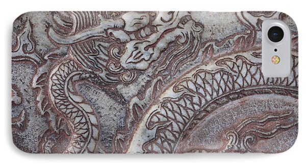 Carved Dragon Phone Case by Carol Groenen