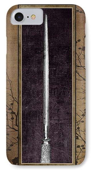 Carving Set Sharpener Triptych 3 IPhone Case by Tom Mc Nemar