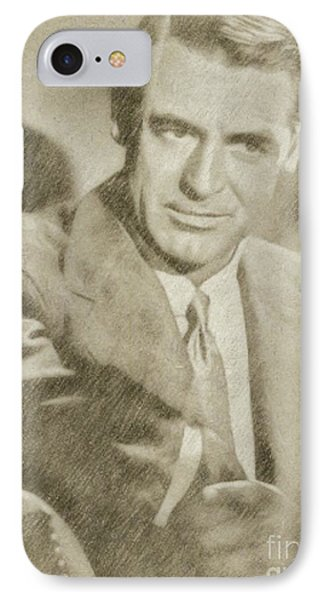 Cary Grant Hollywood Actor IPhone Case by Frank Falcon
