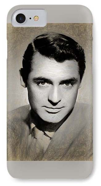 Cary Grant Draw IPhone Case by Quim Abella