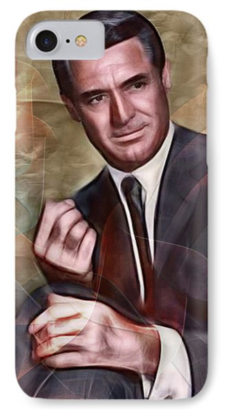 Cary Grant - Square Version IPhone Case by John Robert Beck