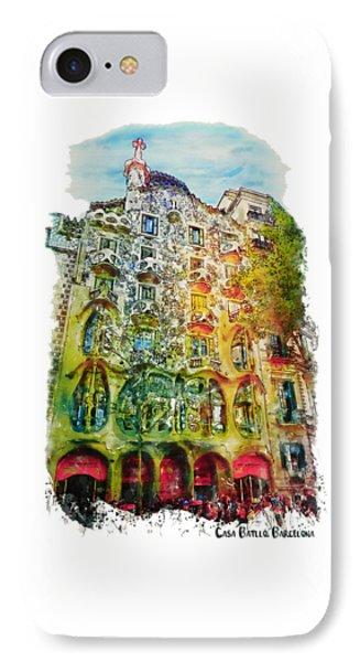 Casa Batllo Barcelona IPhone Case by Marian Voicu