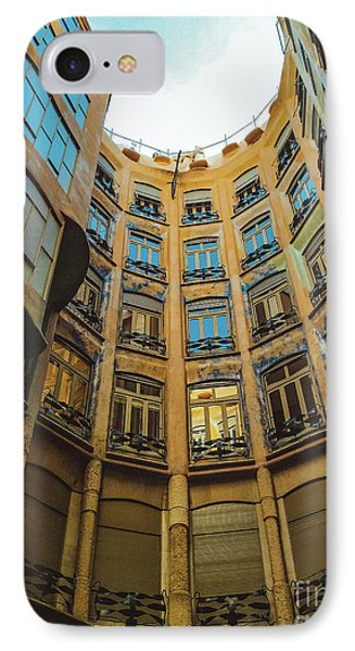 IPhone Case featuring the photograph Casa Mila - Barcelona by Colleen Kammerer