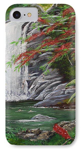 Cascada Tropical IPhone Case by Luis F Rodriguez