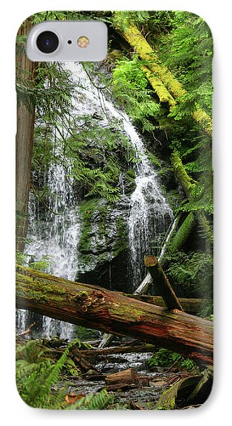 Cascade Falls - Orcas Island IPhone Case by Art Block Collections