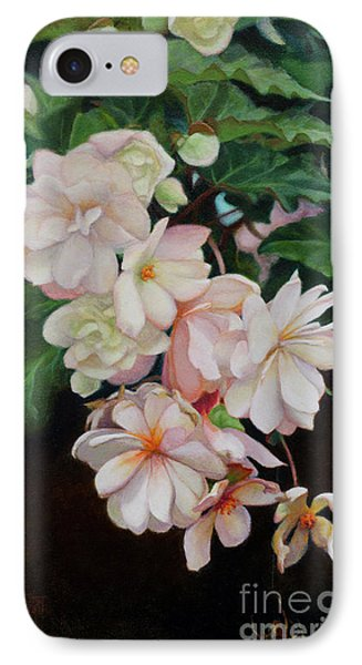 IPhone Case featuring the painting Cascade Of Begonias  by Margit Sampogna
