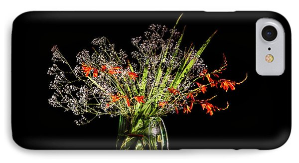 Cascade Of White And Orange. IPhone Case by Torbjorn Swenelius