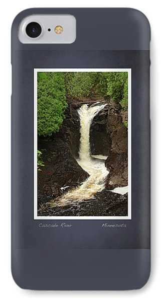 IPhone Case featuring the photograph Cascade River Scrapbook Page by Heidi Hermes