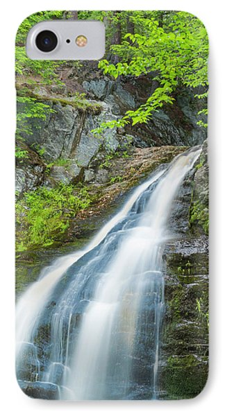 IPhone Case featuring the photograph Cascade Waterfalls In South Maine by Ranjay Mitra