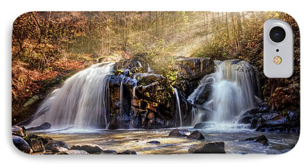 IPhone Case featuring the photograph Cascades Of Light by Debra and Dave Vanderlaan