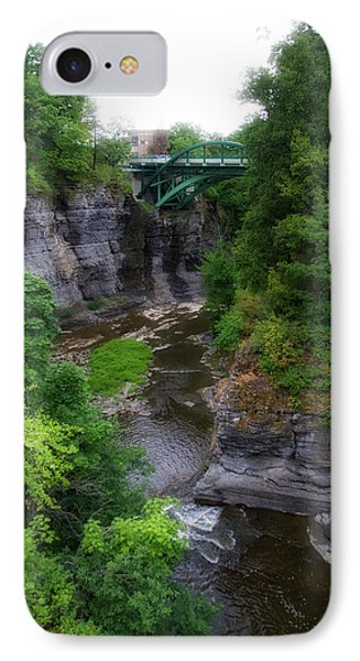 Cascadilla Gorge Cornell University Ithaca New York 01 IPhone Case by Thomas Woolworth