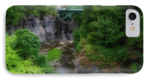 Cascadilla Gorge Cornell University Ithaca New York 02 IPhone Case by Thomas Woolworth