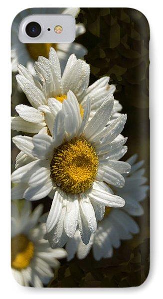 Cascading Daisy IPhone Case by Elsa Marie Santoro