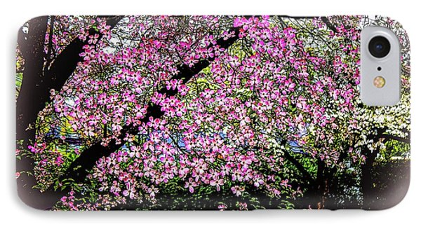 Cascading Dogwood Copyright Mary Lee Parker 17, IPhone Case by MaryLee Parker