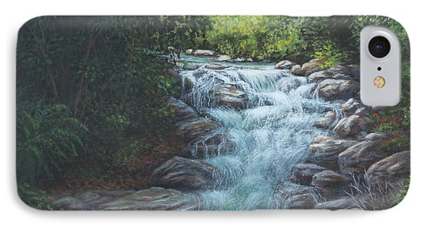 IPhone Case featuring the painting Cascading Stream by Kim Lockman