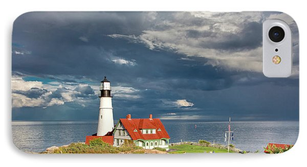 IPhone Case featuring the photograph Casco Bay Lookout by Susan Cole Kelly