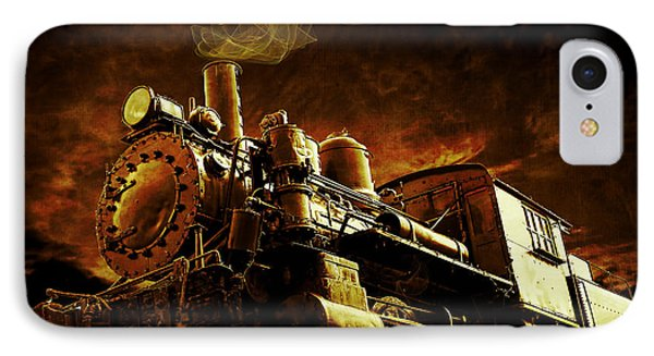 Casey Jones And The Cannonball Express IPhone Case by Edward Fielding