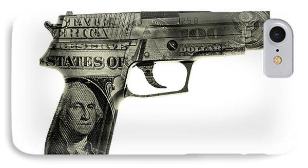 Cash Gun  IPhone Case by Les Cunliffe