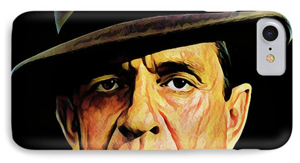 Cash With Hat IPhone Case by Gary Grayson