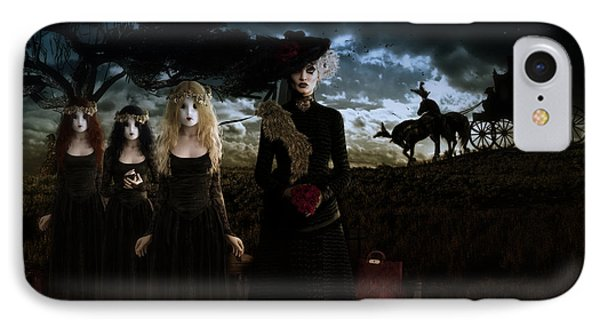 IPhone Case featuring the digital art Casquette Brides Arrival by Shanina Conway