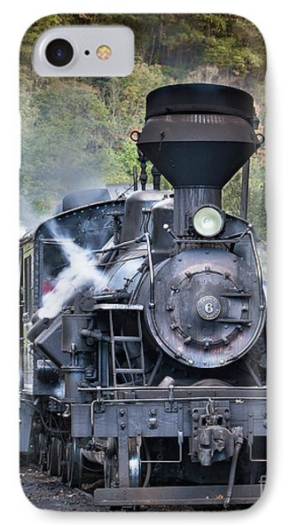 Cass Railroad Steam Engine 2 IPhone Case by Jerry Fornarotto
