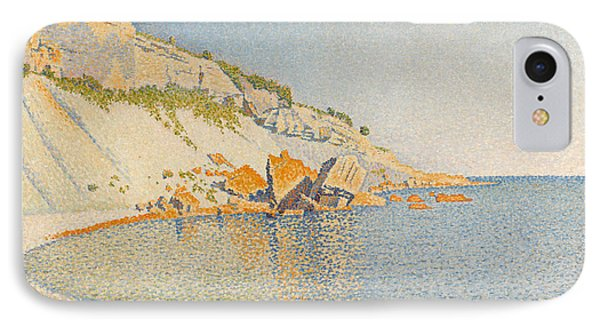 IPhone Case featuring the painting Cassis. Cap Lombard. Opus 196 by Paul Signac