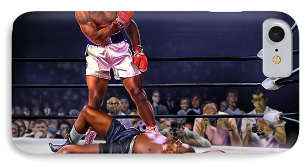 Cassius Clay Vs Sonny Liston IPhone Case