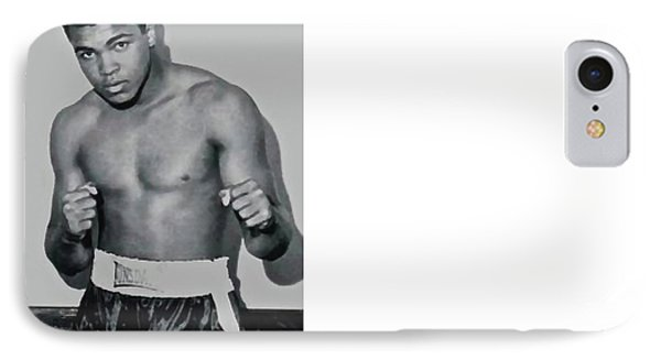 Cassius Marcellus Clay Jr, Watercolor, Mohammad Ali IPhone Case by Thomas Pollart