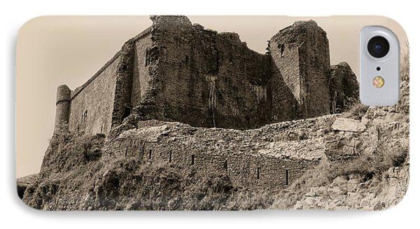 IPhone Case featuring the photograph Castell Carreg Cennen by Nigel Fletcher-Jones