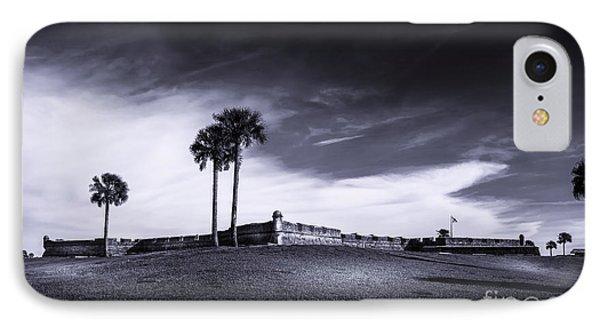 Castillo De San Marcos-b/w IPhone Case