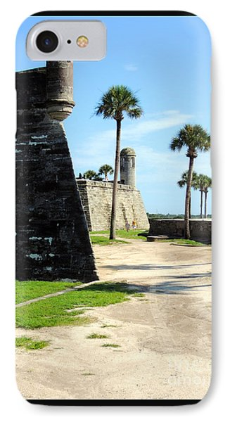 IPhone Case featuring the photograph Castillo De San Marcos St Augustine Florida by Bill Holkham