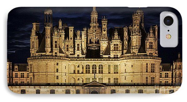 IPhone Case featuring the photograph Castle Chambord Illuminated by Heiko Koehrer-Wagner