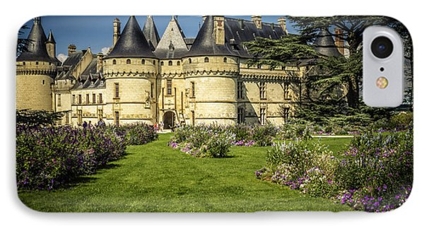 IPhone Case featuring the photograph Castle Chaumont With Garden by Heiko Koehrer-Wagner