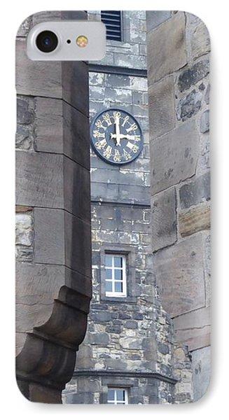 Castle Clock Through Walls IPhone Case by Margaret Brooks