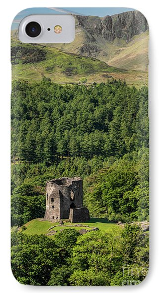 Castle Dolbadarn  IPhone Case by Adrian Evans