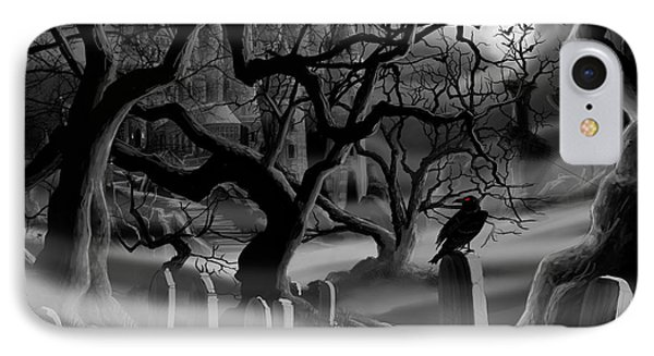 Castle Graveyard I IPhone Case by James Christopher Hill