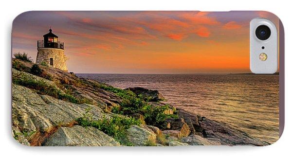 Castle Hill Lighthouse - Newport Rhode Island IPhone Case by Thomas Schoeller