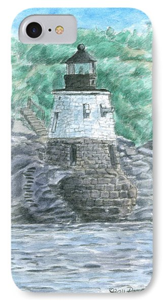 Castle Hill Lighthouse Phone Case by Dominic White