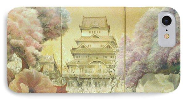 Castle Himeji - Sakura IPhone Case by Sorin Apostolescu