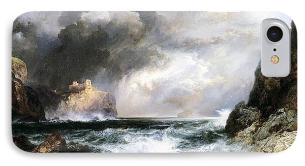 Castle In Scotland IPhone Case by Thomas Moran