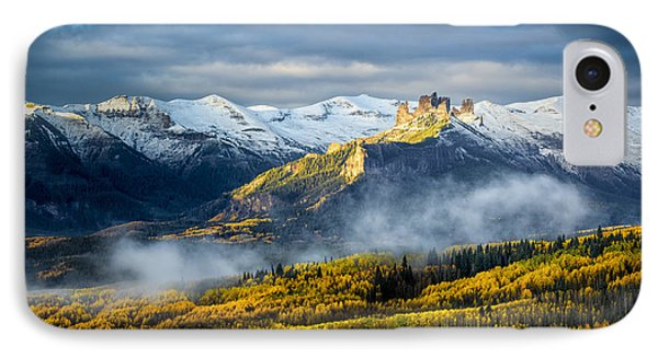 IPhone Case featuring the photograph Castle In The Clouds by Phyllis Peterson
